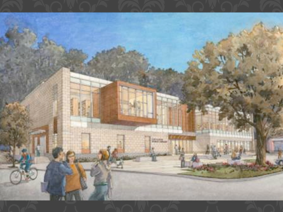 Los Gatos Library Front Rendering - Crossville's NOW Cladding