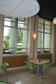 Lynn University cafeteria featuring Laminam by Crossville