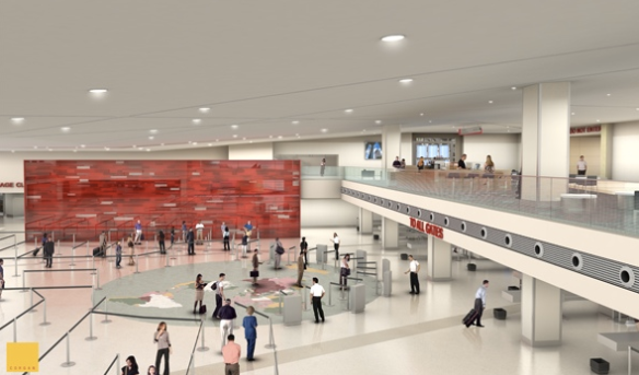 rendering of Love Field remodel