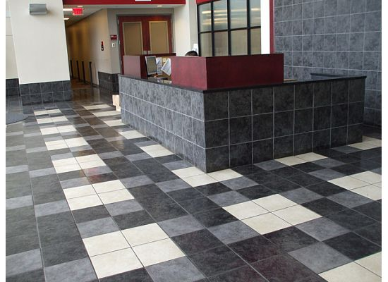 The University of Alabama Bryant Denny Stadium featuring Crossville's EcoCycle and Color Blox Collections.
