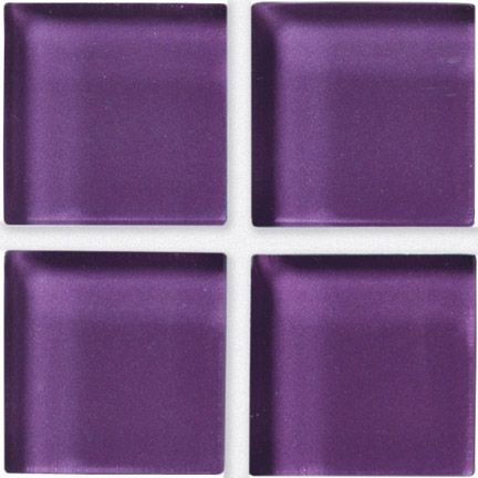 Crossville Porcelain Tile - Glass Blox - Bright Solids Grape Sparkle