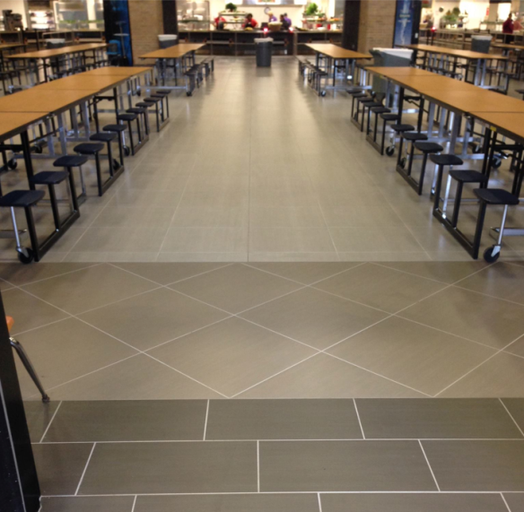 45,000 square feet of Shades porcelain tile stands up to the students of Klein High School in Houston, TX.