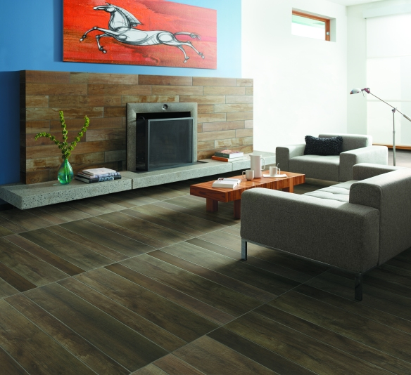 """Bank Roll"" tile that looks like wood from Crossville's SpeakEasy Collection"