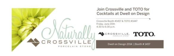 Crossville Cohosts Dwell Cocktail Party