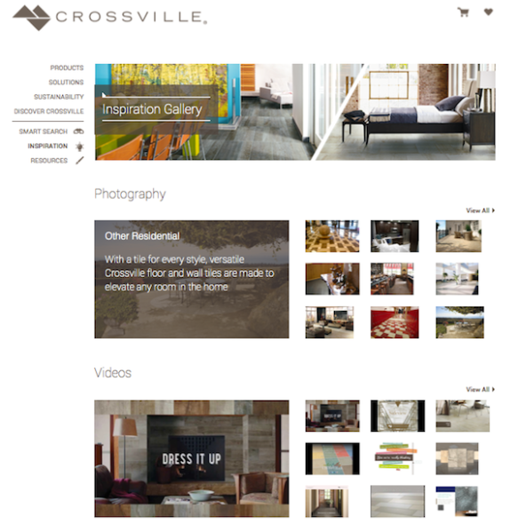 Crossville Inspiration Gallery and Videos