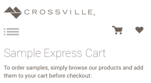 Order samples easily on crossville's website