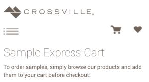 Order samples easily on crossville's website