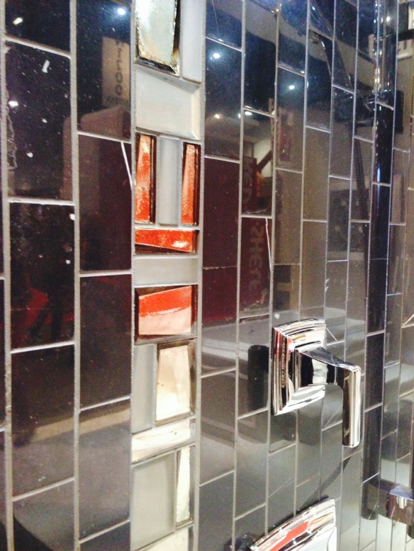Metallic and glass tile
