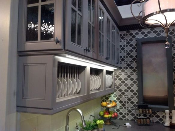 Wellborn cabinets in gray