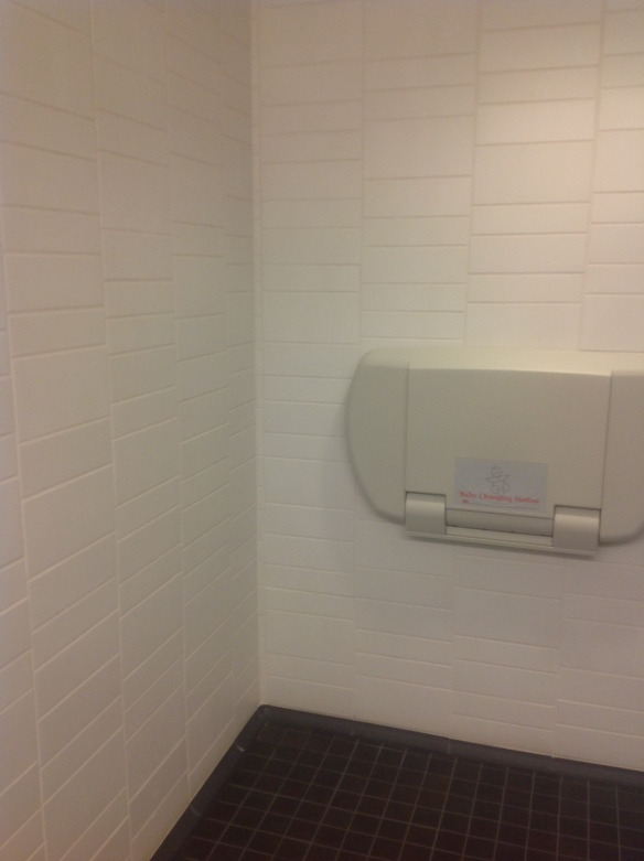 SF JAZZ Center with Crossville's Retroactive and Color Blox porcelain tile in restroom