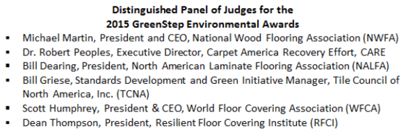 GreenStep Awards panel of Judges