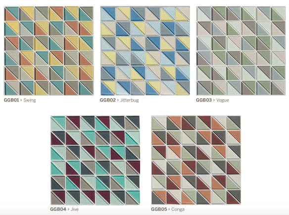Groove Glass Comes in 5 Mosaic Blends