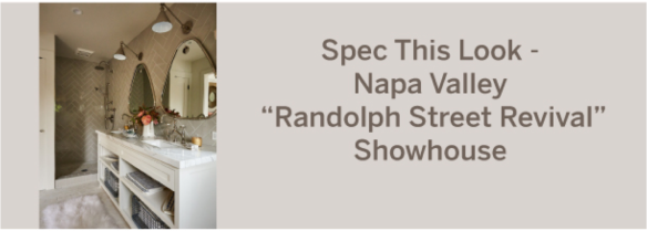 crossville products specified for the napa show house